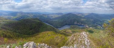 Panorama über dem Land Lizenzfreies Stockbild
