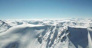 Panorama śnieżne góry Wierzchołki szczyty Epicki momentu truteń zbiory wideo