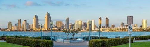 Panorama śródmieście San Diego, Kalifornia zdjęcia stock
