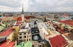 Panorama środkowa część Olomouc miasto Fotografia Stock