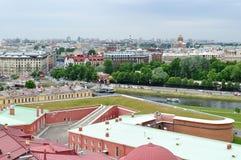 Panorama święty Petersburg, Rosja od wzrosta fotografia royalty free