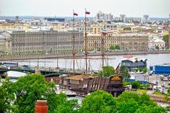 Panorama święty Petersburg, Rosja od wzrosta z zdjęcie stock