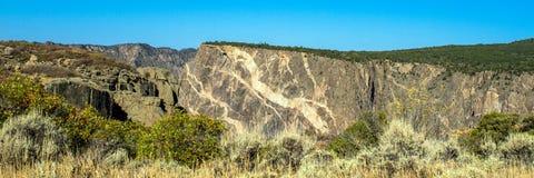 """Panorama """"della parete dipinta """"famosa in canyon nero del parco nazionale di Gunnison in Colorado fotografia stock libera da diritti"""