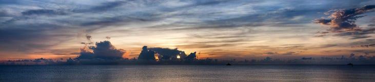 Panorama 01 van Azië van het zeegezicht Royalty-vrije Stock Foto's
