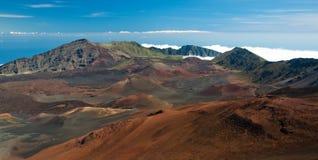 Panorama 1 del cráter de Haleakala Fotos de archivo libres de regalías