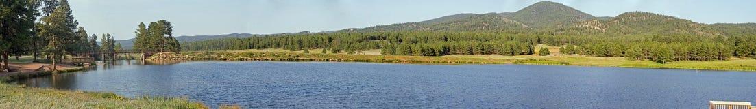 Panorama 1 del lago Manitou imagen de archivo