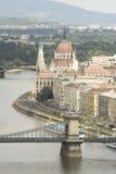 Panorama 10 van Boedapest. Stock Afbeelding
