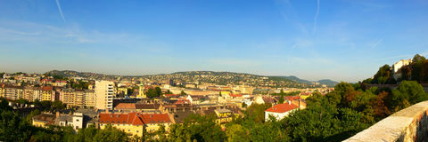 Panorama. A panorama was made of the Buda part of Hungary's capital, from the castle Royalty Free Stock Photo