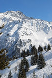 Panorama. Wide angle panorama of French Alps. HiRes picture Stock Photo
