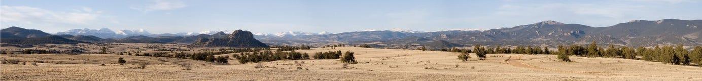 Panorama 2 de Tarryall Imagenes de archivo