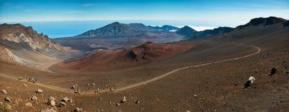 Panorama 2 del cráter de Haleakala Imágenes de archivo libres de regalías