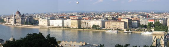 Panorama 2 di Budapest Fotografie Stock Libere da Diritti