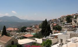 Panorama 2008 de Safed Photo libre de droits