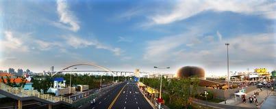 Panorama 2010 d'expo de Changhaï Photos stock