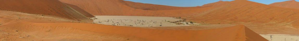 Panorama 4 de Deadvlei Imagenes de archivo