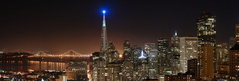 Panorama 4 de San Francisco Imagens de Stock