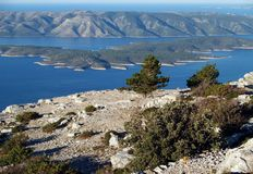 Panorama. Croatian coast and islands Royalty Free Stock Images