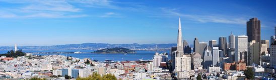 Panorama 7 di San Francisco Fotografia Stock Libera da Diritti