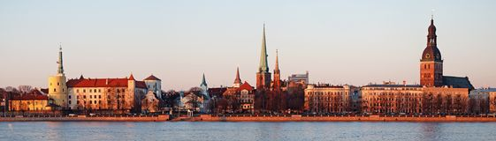 Panorama. Panorama of Old Riga on a decline Royalty Free Stock Photos
