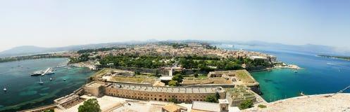 Panorama aéreo da cidade da ilha Imagens de Stock