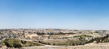 Panorama aéreo da cidade velha do Jerusalém Fotos de Stock Royalty Free