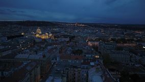 Panorama aéreo da noite de Praga filme
