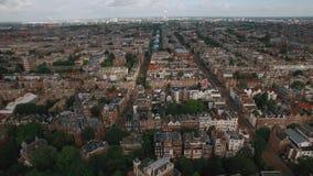 Panorama aéreo de Amsterdam, Países Bajos almacen de metraje de vídeo