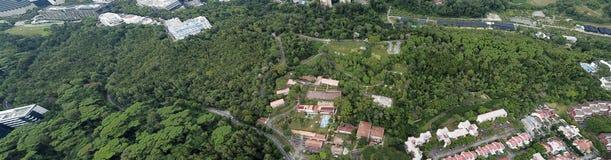 Panorama aéreo de Kent Ridge Park, Singapur imágenes de archivo libres de regalías