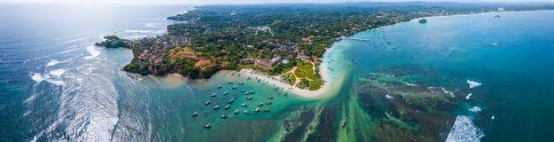 Panorama aéreo de la costa sur de Sri Lanka imagen de archivo libre de regalías