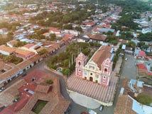 Panorama aéreo de León foto de archivo libre de regalías