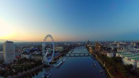 Panorama aéreo de Londres central almacen de video