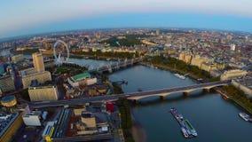 Panorama aéreo de Londres central almacen de metraje de vídeo