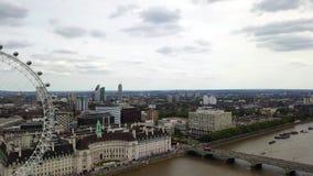 Panorama aéreo de Londres central, Reino Unido almacen de metraje de vídeo