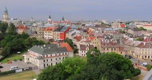 Panorama aéreo de Lublin almacen de video