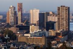 Panorama aéreo de Rotterdam Imagenes de archivo