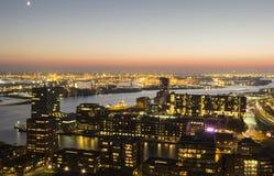 Panorama aéreo de Rotterdam Imagen de archivo libre de regalías
