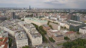Panorama AÉREO de Viena Catedrales y ciudad del paisaje urbano de Viena, Austria almacen de video