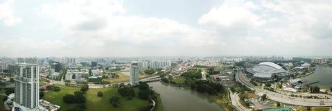 Panorama aéreo del área de Kallang Imagenes de archivo