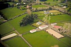 Panorama aéreo do campo imagens de stock royalty free