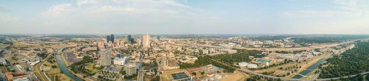 Panorama a?reo Fort Worth Tejas imagen de archivo