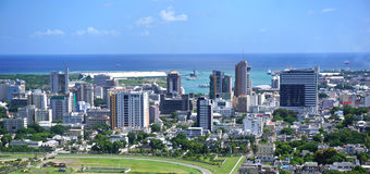 Panorama aéreo Mauricio Foto de archivo