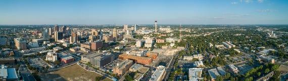 Panorama a?reo San Antonio Texas fotografía de archivo