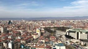 Panorama aéreo sobre Sofía, Bulgaria