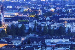 Panorama aérien de Bâle Photographie stock