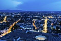 Panorama aérien de Bâle Photos libres de droits