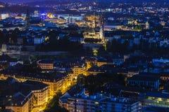 Panorama aérien de Bâle Photo libre de droits