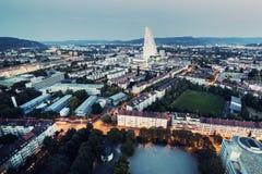 Panorama aérien de Bâle Image stock
