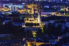 Panorama aérien de Bâle Image libre de droits