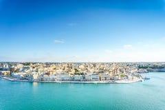 Panorama aérien de Brindisi, Puglia, Italie image libre de droits