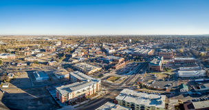 Panorama aérien de paysage urbain Photographie stock